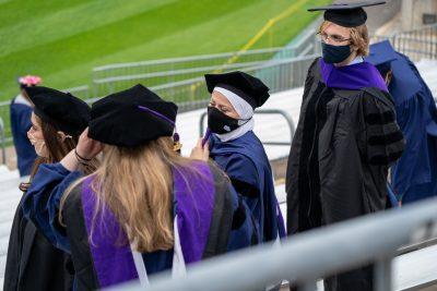 2020 graduates at Rentschler Field ceremony