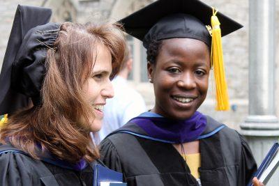 2017 UConn Law graduates at commencement
